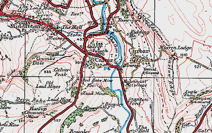 Old map of Calver in 1923