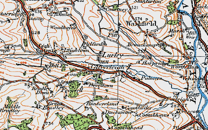 Old map of Leigh Barton in 1919