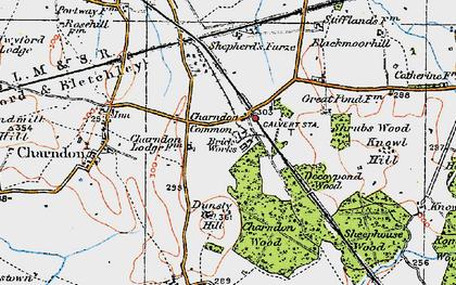 Old map of Calvert in 1919