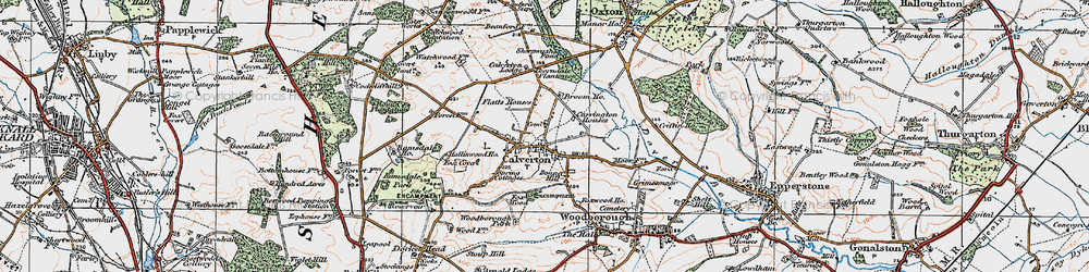 Old map of Abbey House in 1921