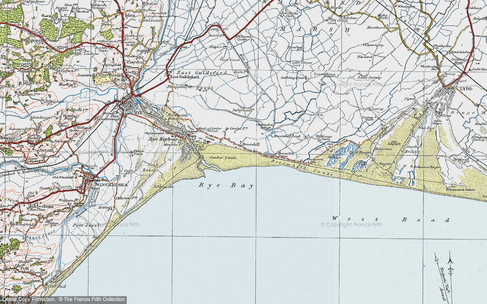 Old Map of Camber, 1921 in 1921