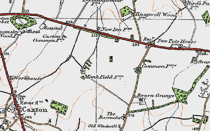 Old map of Cambourne in 1920