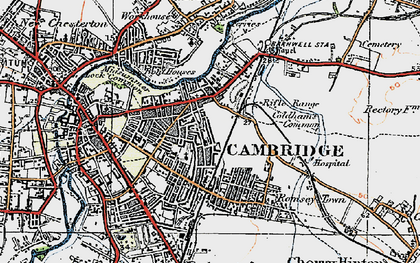 Old map of Cambridge in 1920