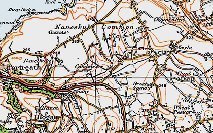 Old map of Cambrose in 1919