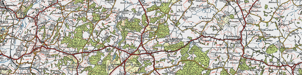 Old map of Whitsunden in 1921