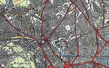 Old map of Camden Town in 1920