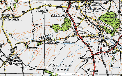 Old map of Cameley in 1919
