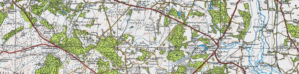Old map of West Wellow Common in 1919