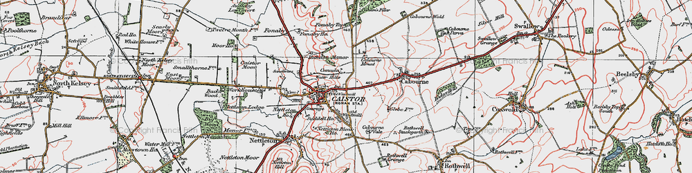 Old map of Whitegate Hill in 1923