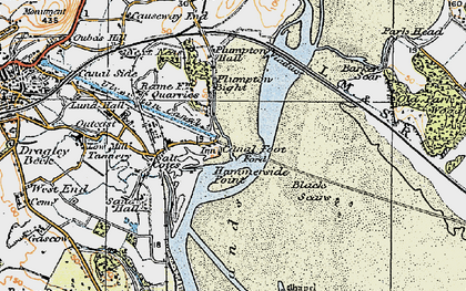 Old map of Barker Scar in 1925