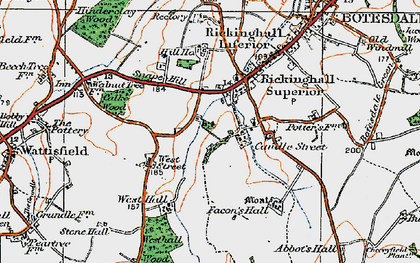 Old map of Westhall Wood in 1920