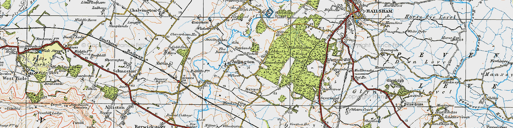 Old map of Abbot's Wood in 1920
