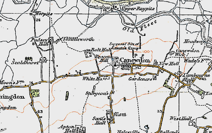 Old map of Canewdon in 1921
