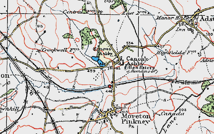 Old map of Ashby Gorse in 1919