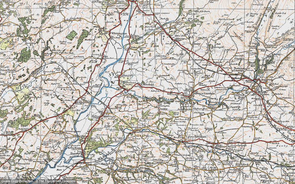 Old Map of Cantsfield, 1924 in 1924