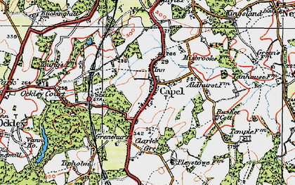Old map of Capel in 1920
