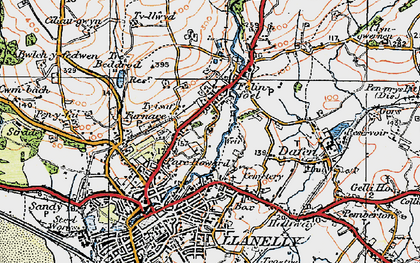 Old map of Capel in 1923
