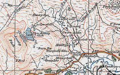 Old map of Y Drum in 1922