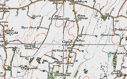Old map of Ynys Fawr in 1922