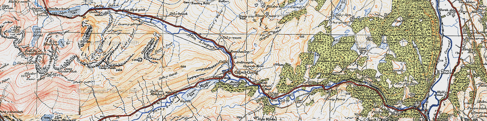 Old map of Afon y Bedol in 1922