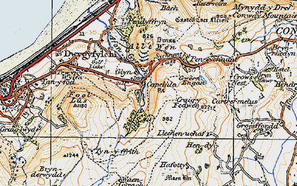 Old map of Capelulo in 1922