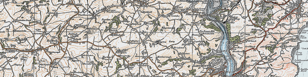 Old map of Woollcombe in 1919
