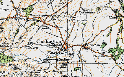 Old map of Cardington in 1921