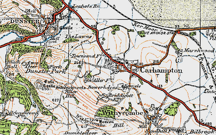 Old map of Aller Hill in 1919