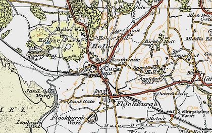 Old map of Cark in 1925