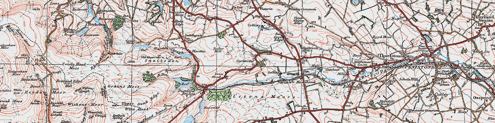 Old map of Tinker Hill in 1924