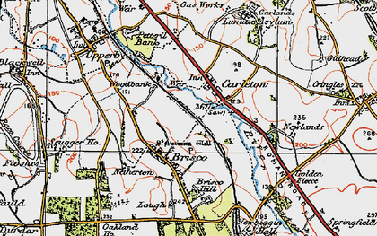 Old map of Woodbank Ho in 1925