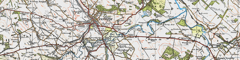 Old map of Whinfell Park in 1925