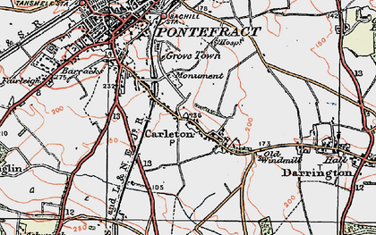 Old map of Carleton in 1925