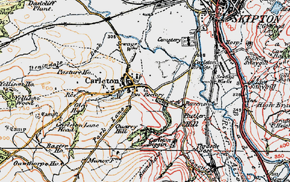 Old map of Carleton-in-Craven in 1925