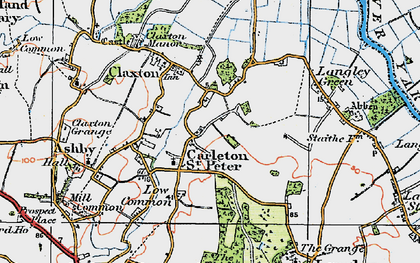 Old map of Langley Green in 1922