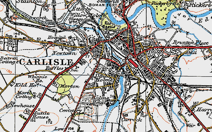 Old map of Carlisle in 1925