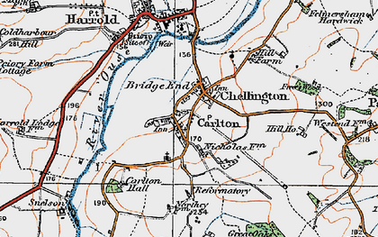 Old map of Carlton in 1919