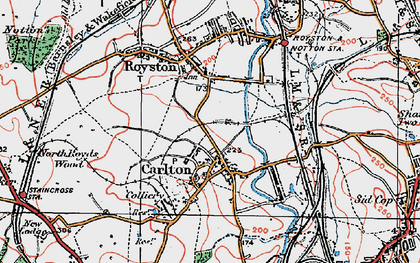 Old map of Carlton in 1924