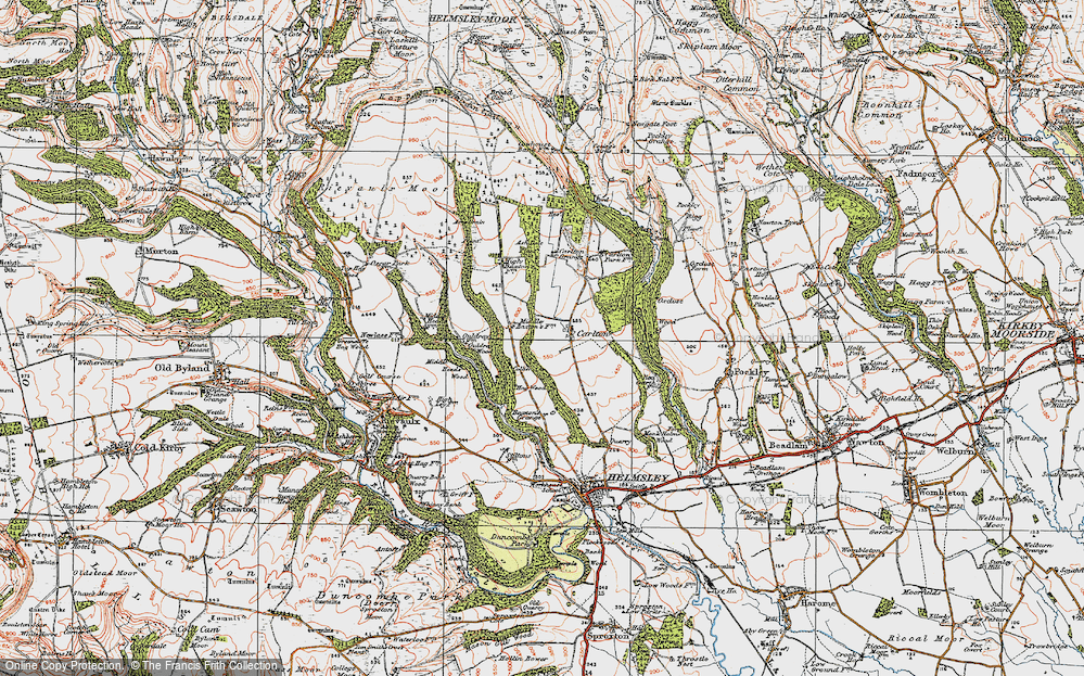 Old Map of Historic Map covering Ash Dale in 1925