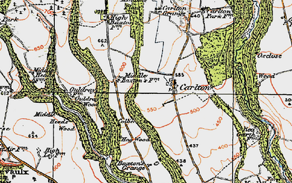 Old map of Ash Dale in 1925