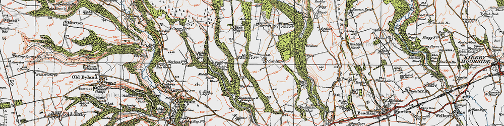 Old map of Acre Grain Plantn in 1925