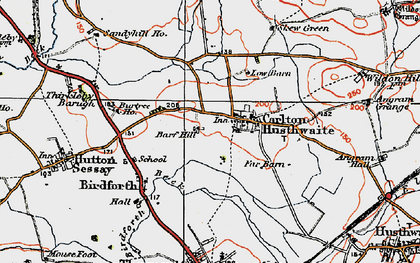 Old map of Carlton Husthwaite in 1925