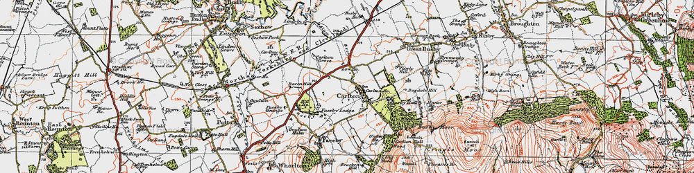 Old map of Thwaites Ho in 1925