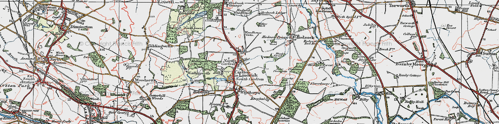 Old map of Willow Holt in 1923