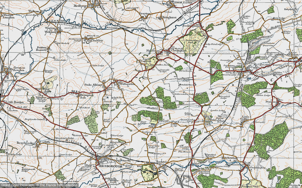Old Map of Historic Map covering Askershaw Wood in 1920