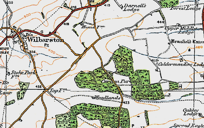 Old map of Askershaw Wood in 1920
