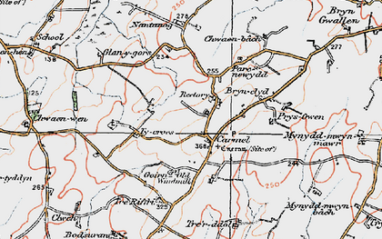 Old map of Carmel in 1922