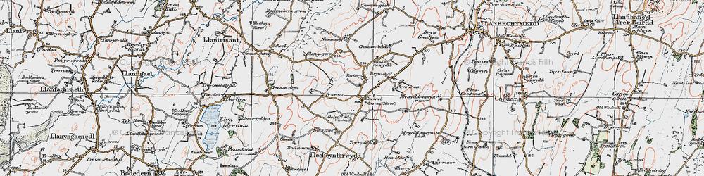 Old map of Carmel in 1922