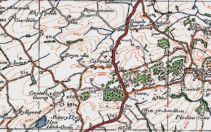 Old map of Carmel in 1923