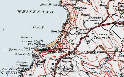 Old map of Carn Keys in 1919